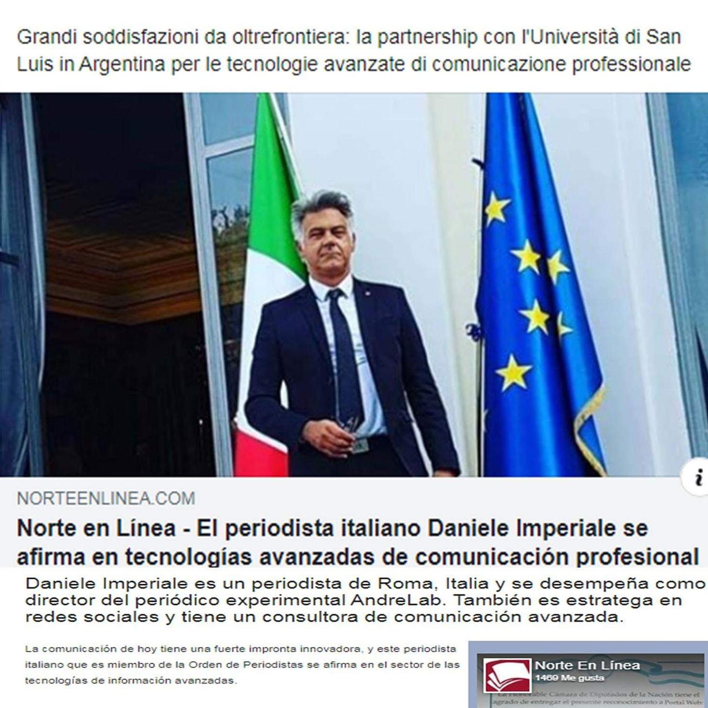 Partnership con l'Università di San Luis (Argentina), tecnologie avanzate di comunicazione professionale
